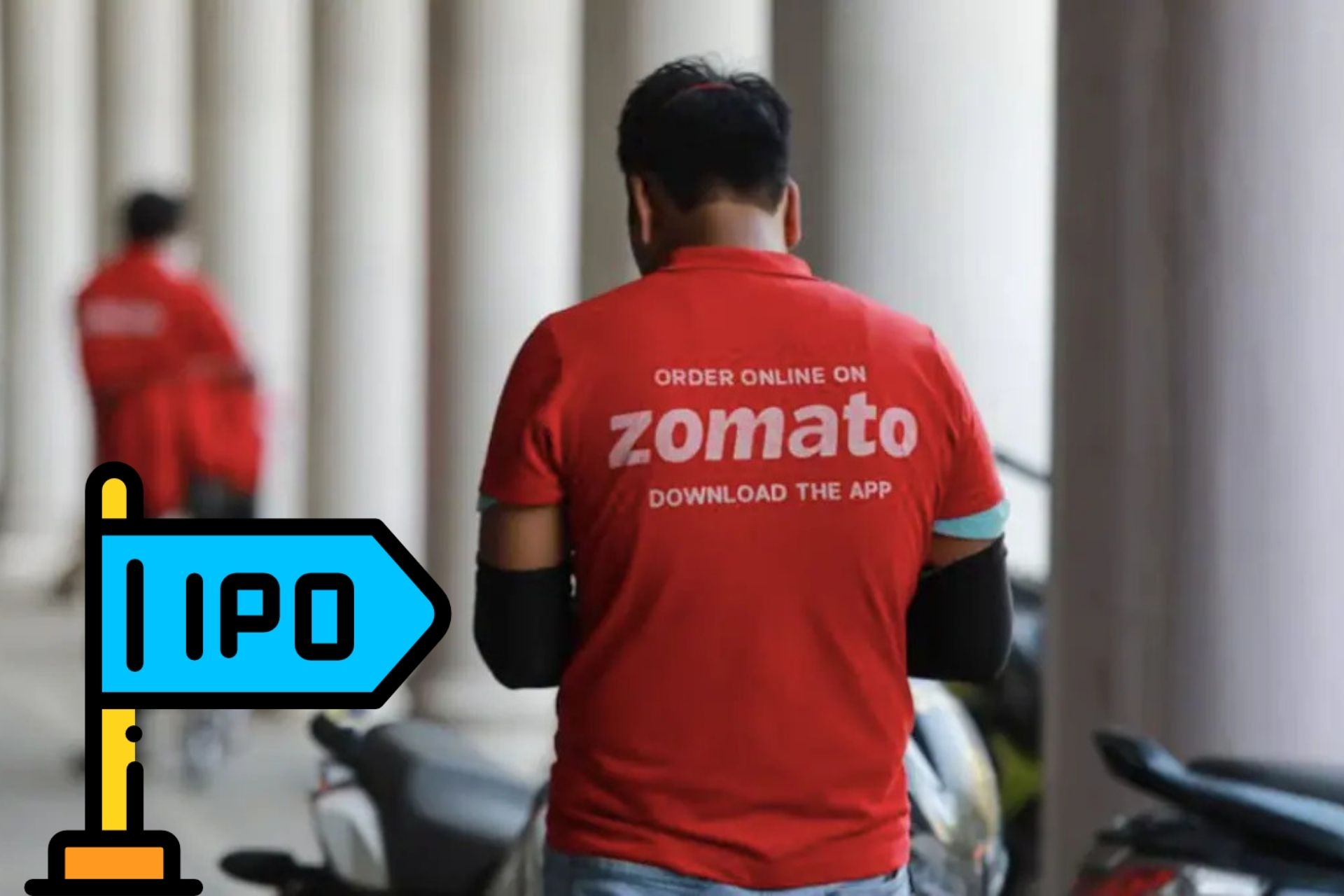 Zomato's stock price finishes the 1st day of trading at Rs 126, up 66 % from the IPO price