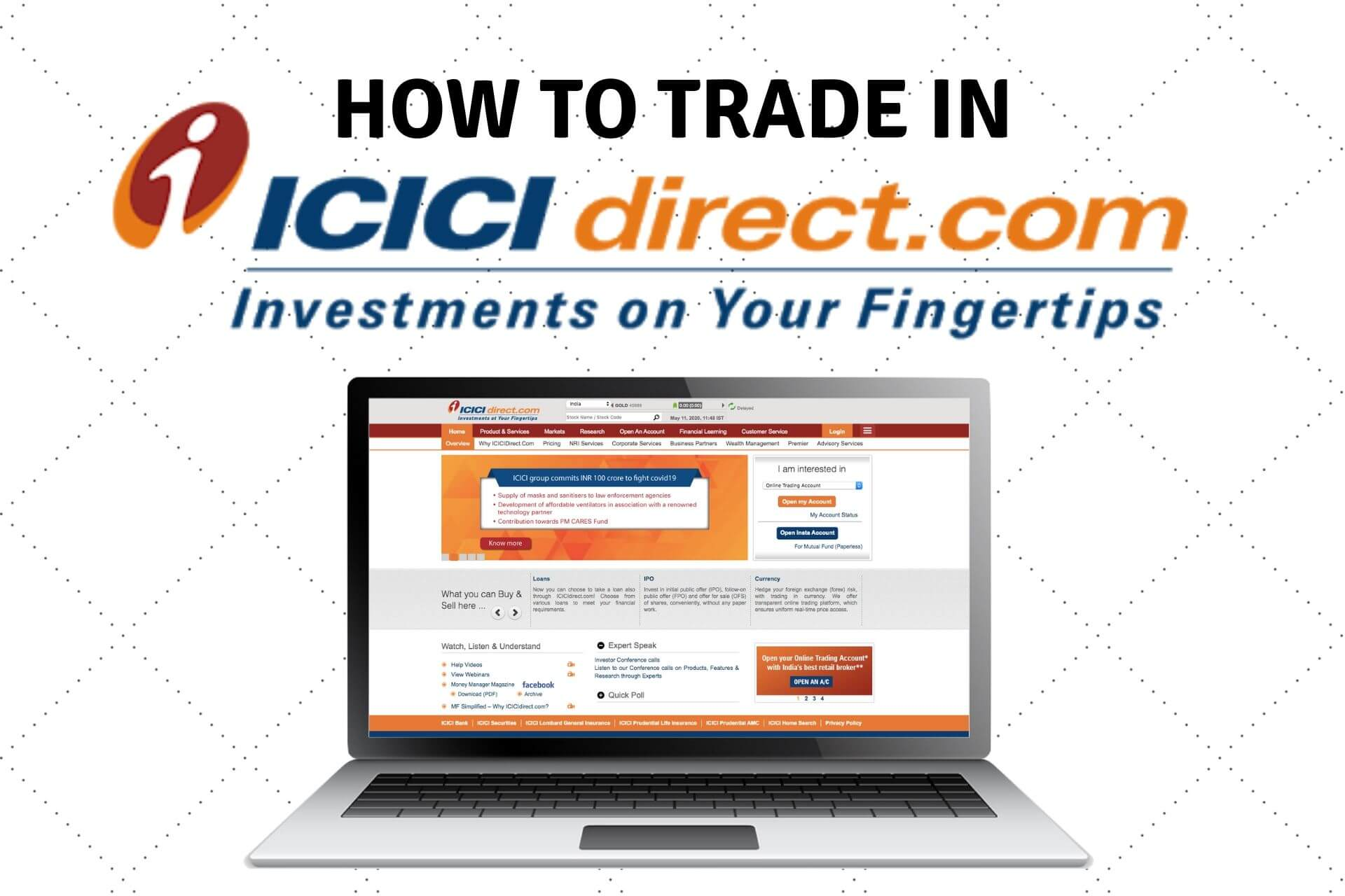How to trade in ICICI Direct? Buy/Sell Stocks