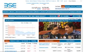 BSE India website
