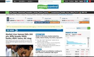 money control website- must know websites for Indian stock market investors