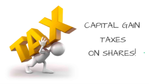 What are the capital gain taxes on share in India
