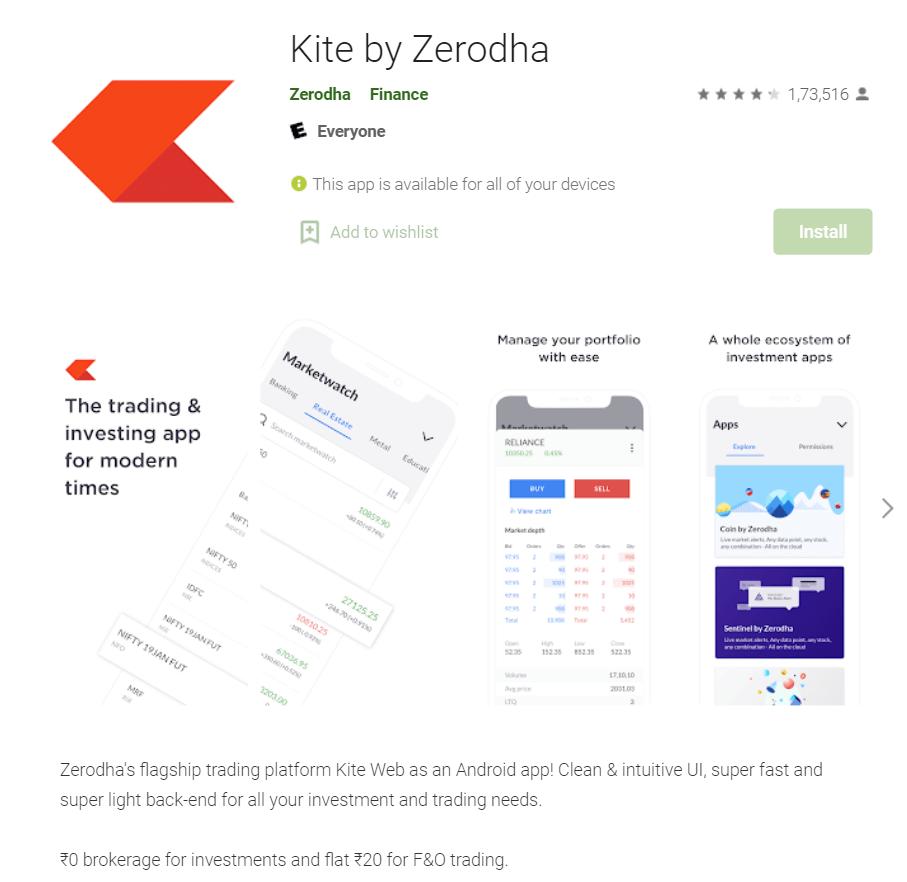 zerodha kite app