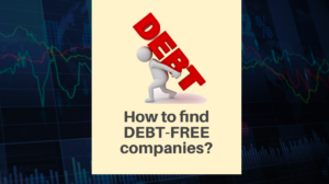 How to find debt free companies in India