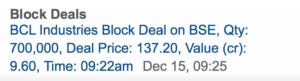 block deal example