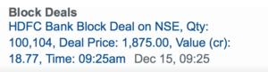 bulk deal example hdfc