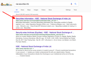 nse security information