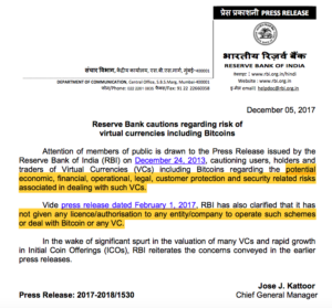 rbi india guidelines for bitcoin