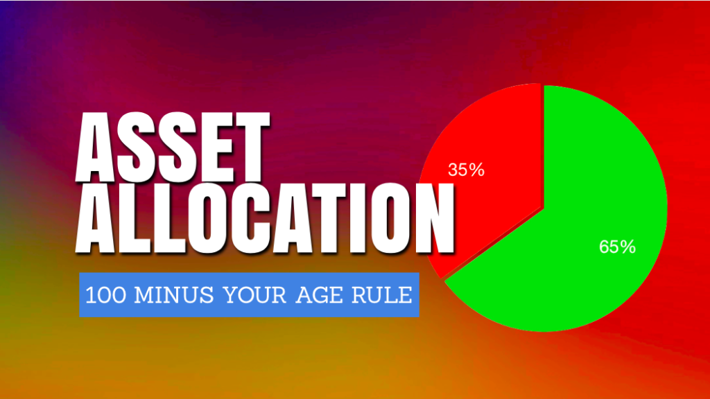 100 minus your age rule- best asset allocation nethod