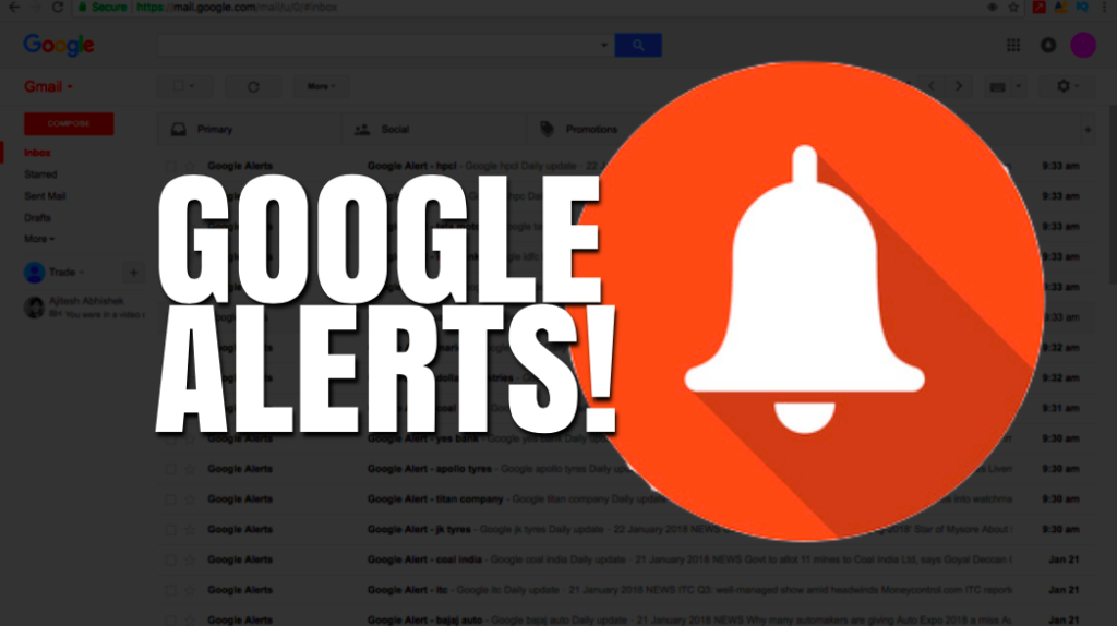 How to Use Google Alerts to Monitor Your Portfolio?
