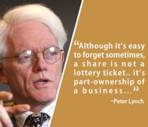 peter Lynch quotes stocks are not lottery tickets