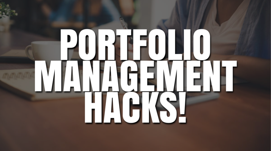 Portfolio Management Hacks That Every Beginner Should Know