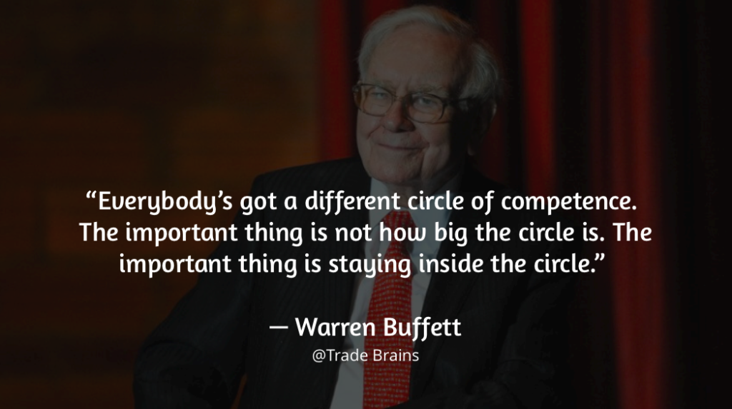 circle of competence warren buffett quote