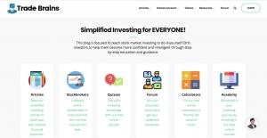 trade brains stock market website