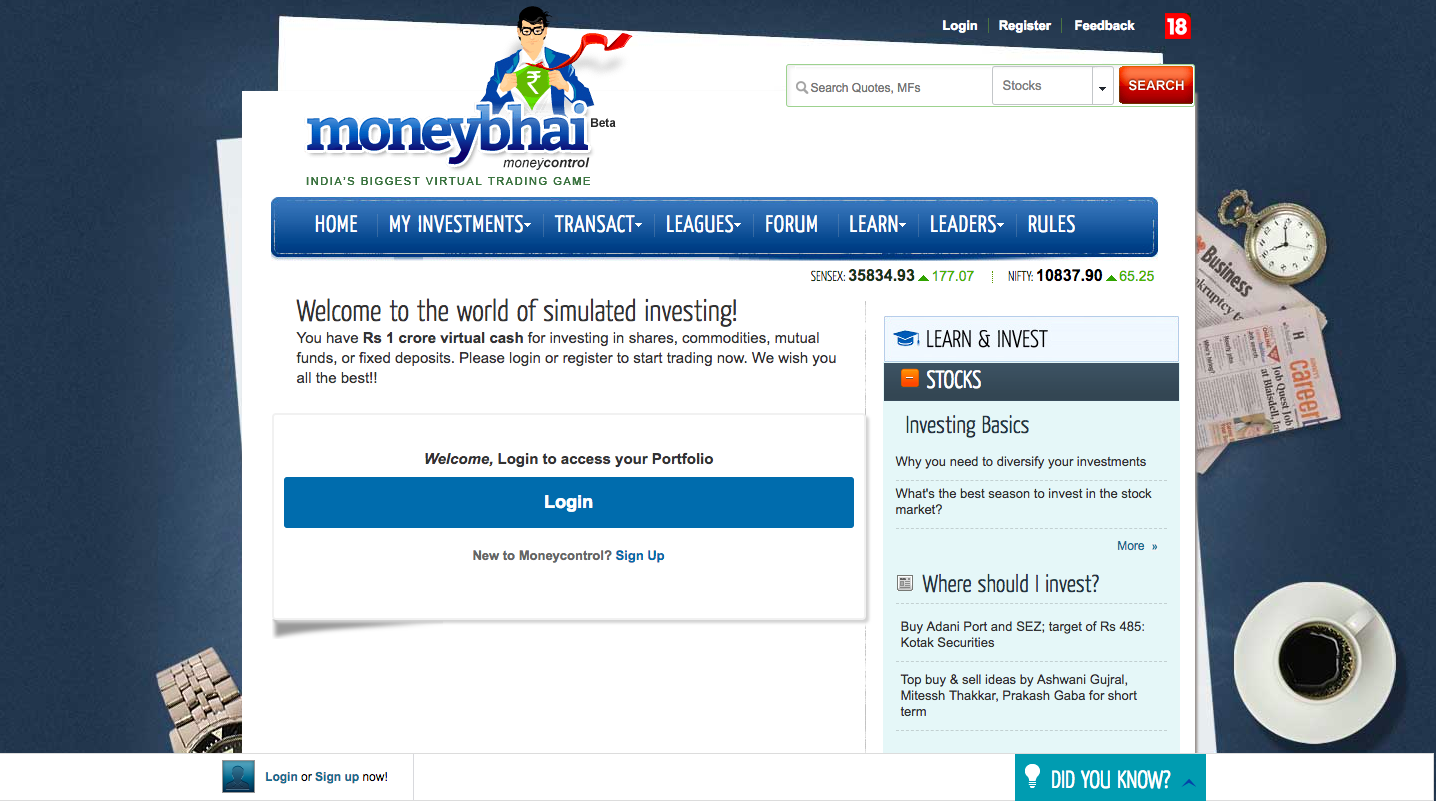 MONEY BHAI - Virtual Stock Trading in India