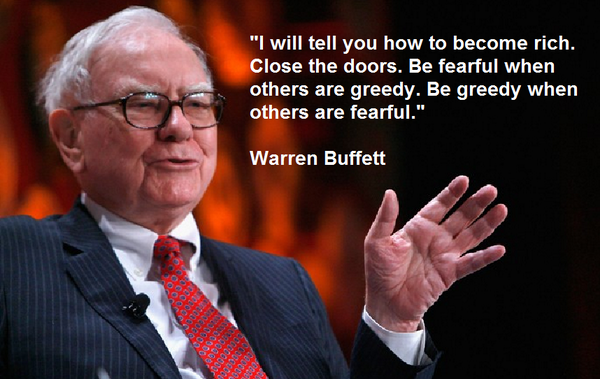 warren buffett quote be fearful