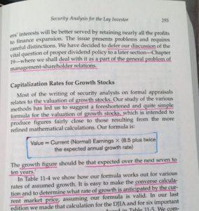 graham formula security analysis