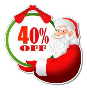 discount sticker santa