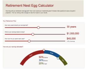Vanguard Monte Carlo Simulation Retirement Nest Egg Calculator