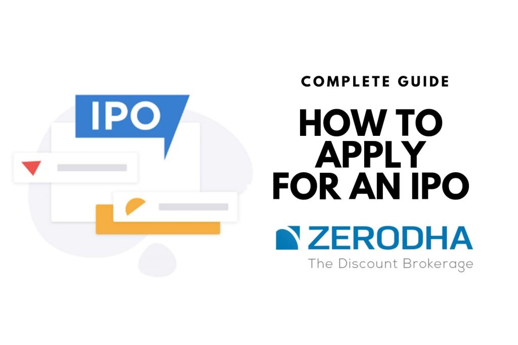 How to apply for an IPO with Zerodha Account cover
