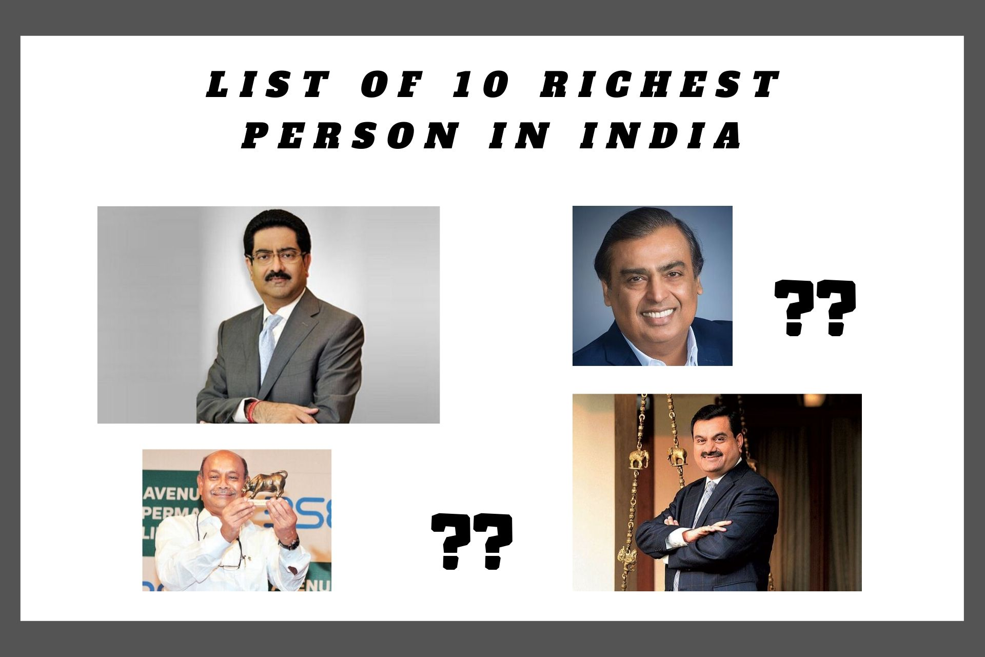 Top 10 Richest Person in India in 2019