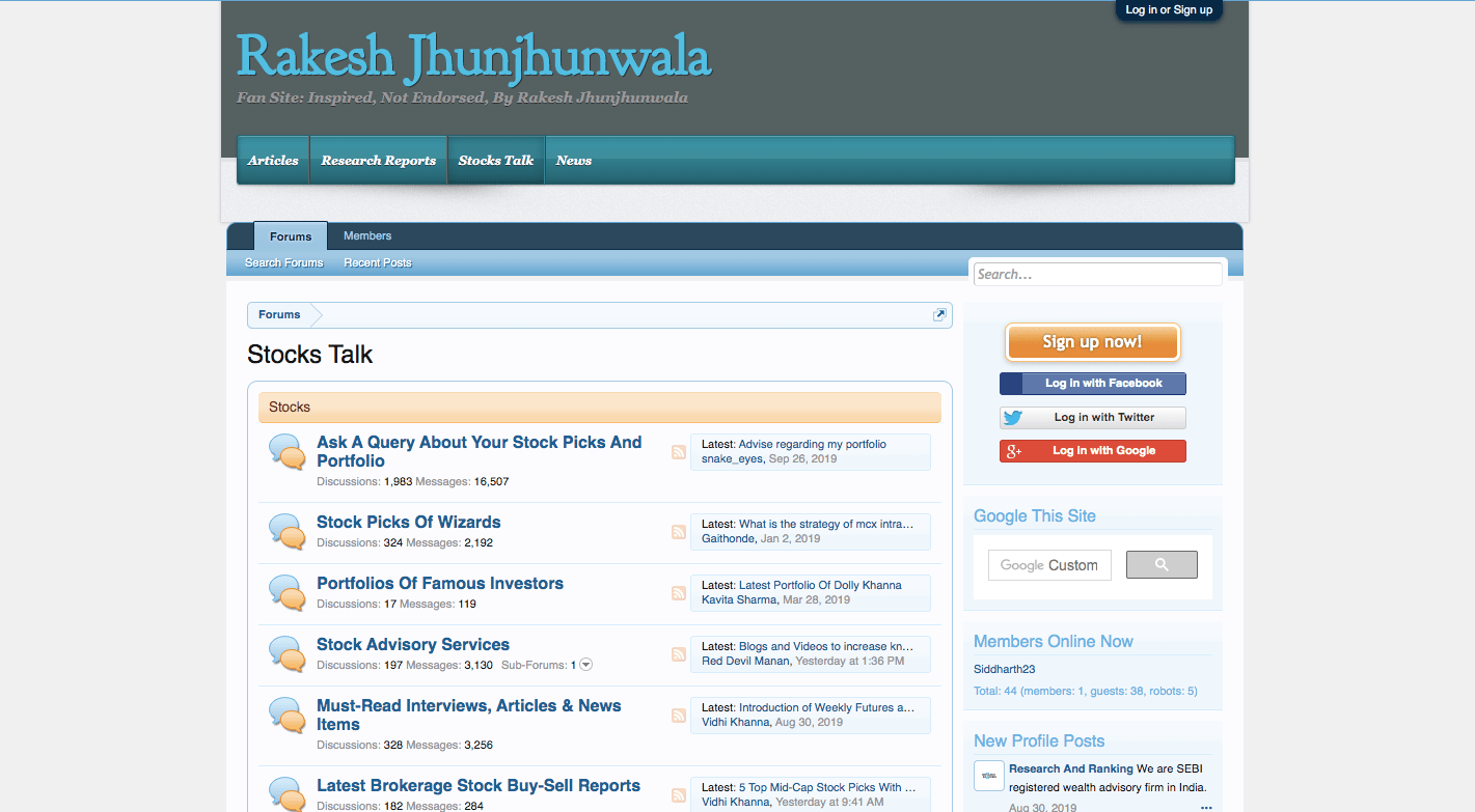 rakesh jhunjhunwala stock talk forum