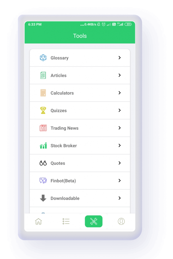 trade brains learning app tools