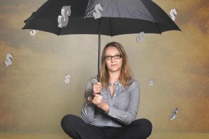 A lady holding an umbrella while dollars falling like rain | What is FPO?