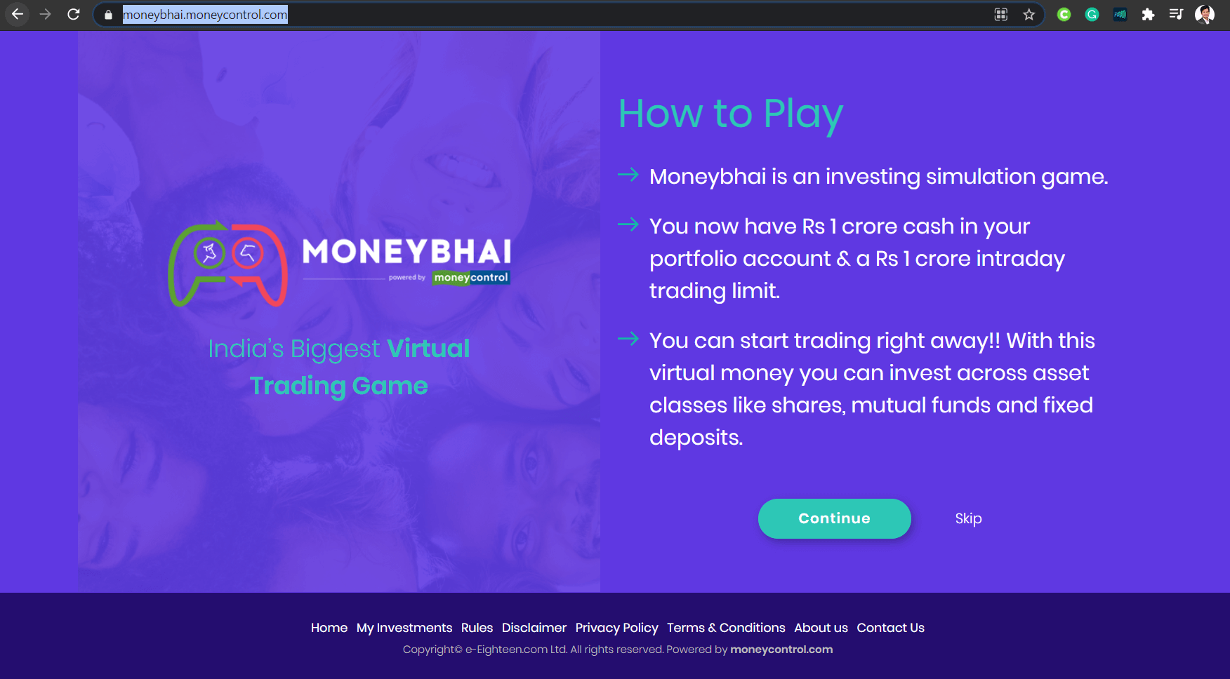 moneybhai virtual stock trading website