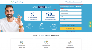 How to Open Demat Account at Angel Broking Step 1