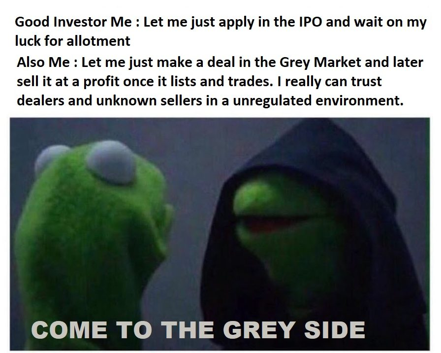What is an IPO Grey Market meme