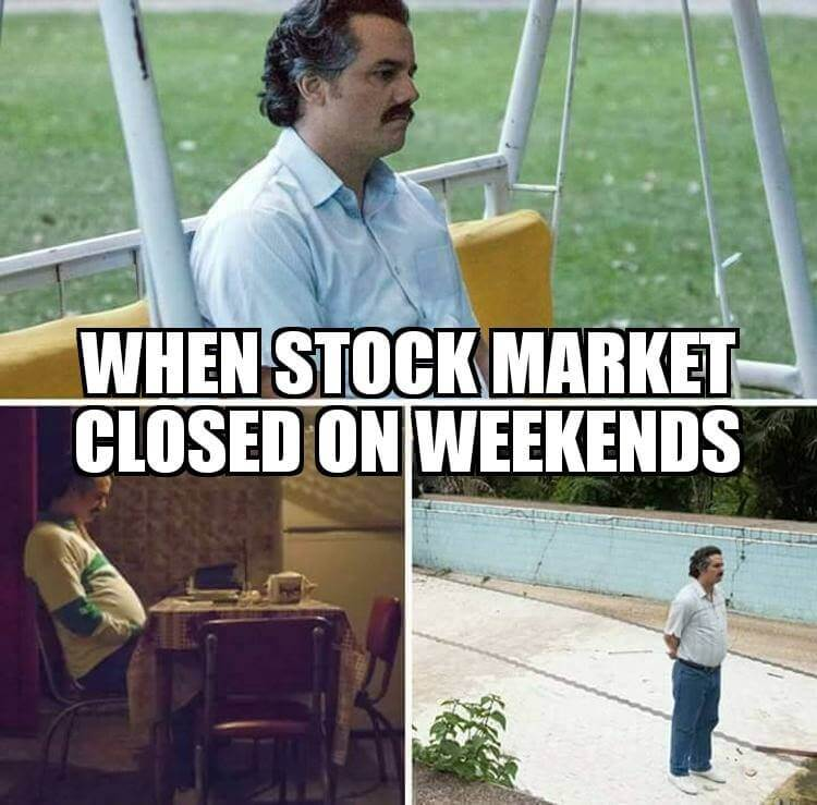 when stock market is closed meme