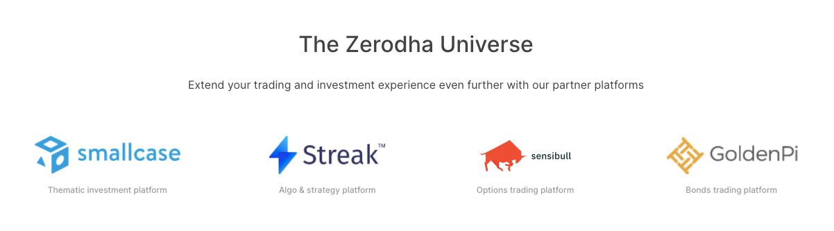 zerodha partners senseibull smallcase etc