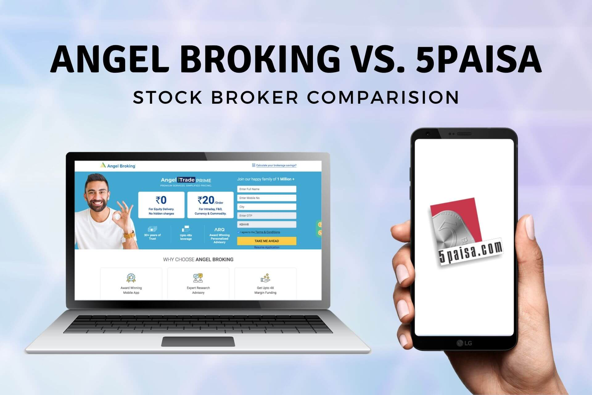 ANGEL BROKING VS 5PAISA broker comparison