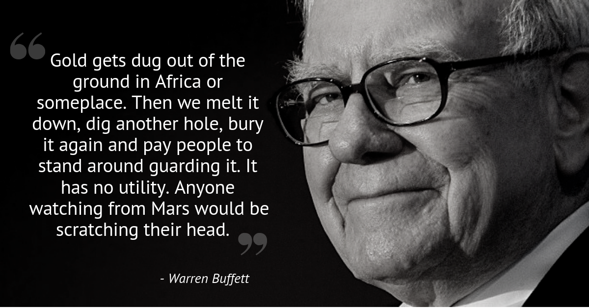 warren buffett quote on gold