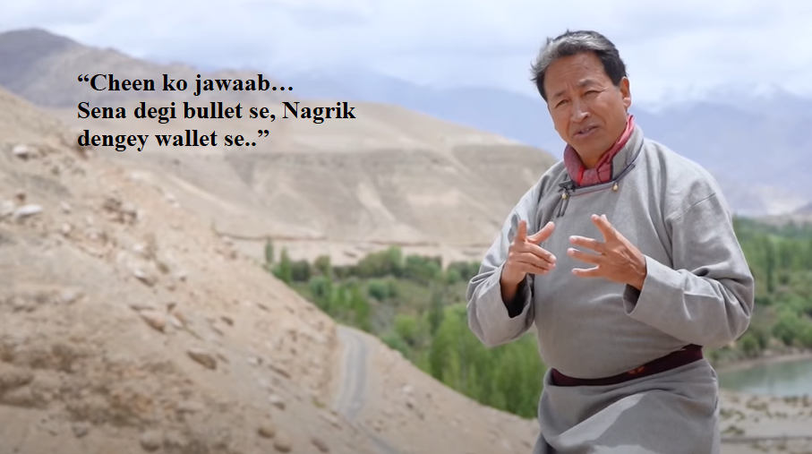 Sonam Wangchuk released a video calling all Indians to boycott Chinese products
