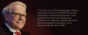 Warren Buffett quote on reading