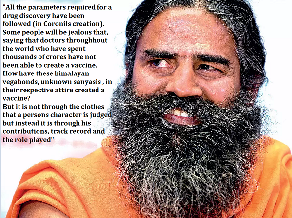 baba ramdev on coronavirus drug coronil