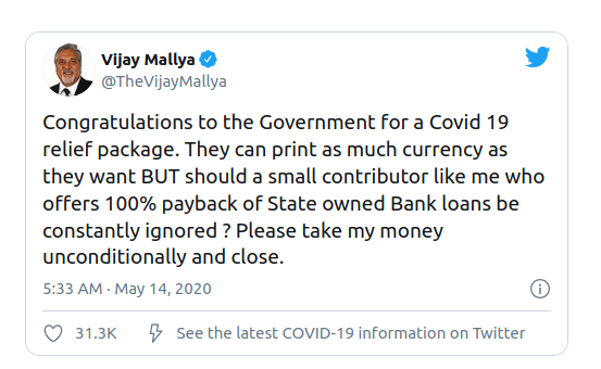 Vijay Mallya Urges Govt To Take His Money & Close His Case