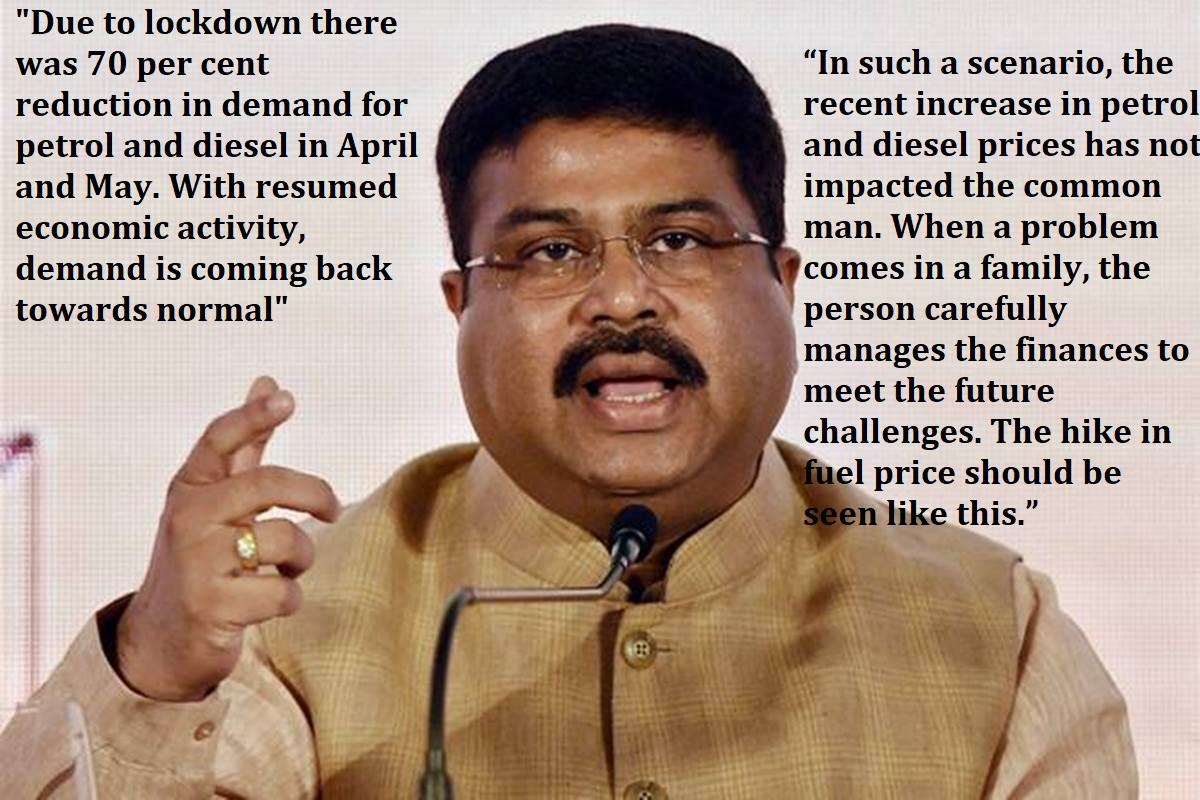 Union petroleum minister - Dharmendra Pradhan