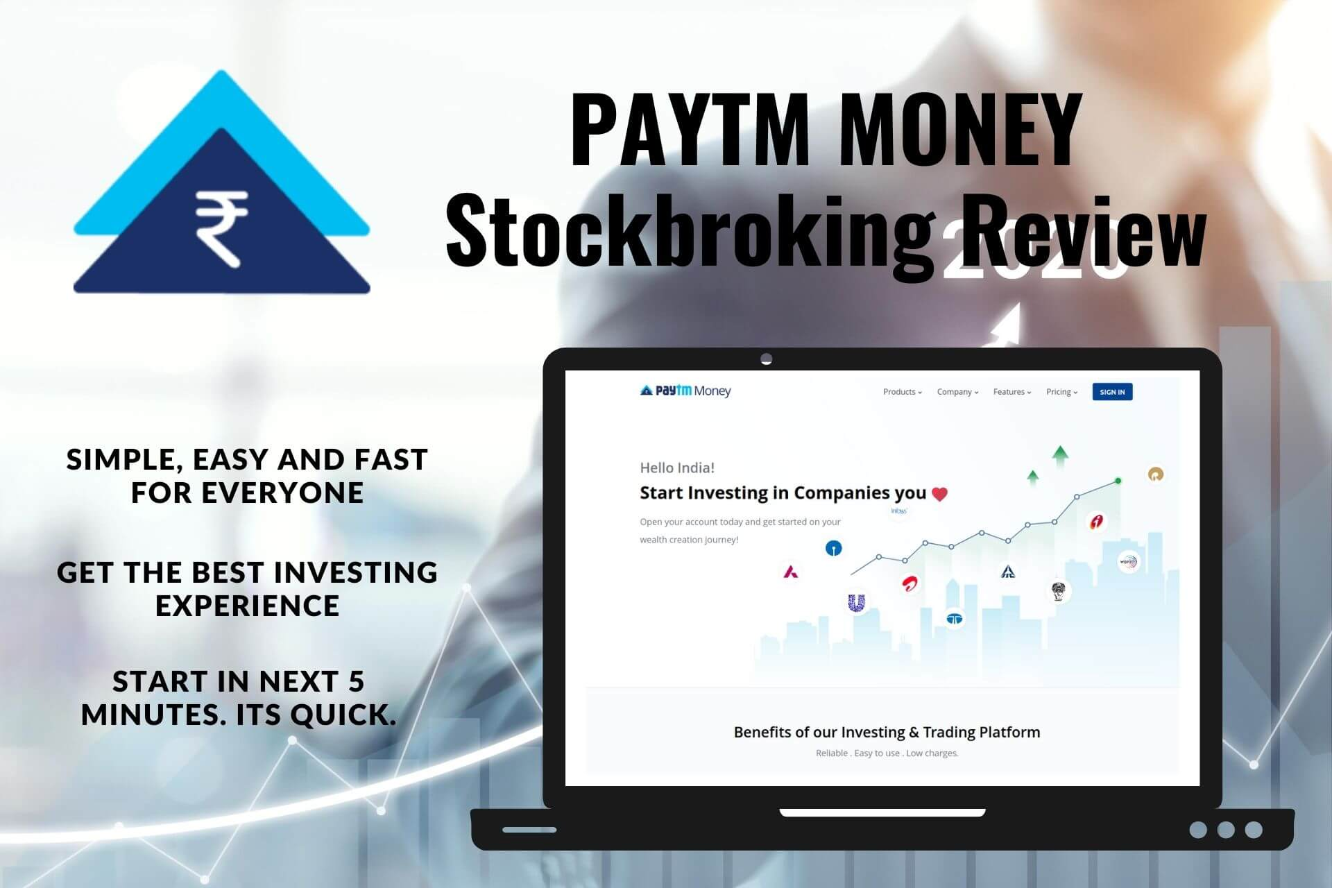 Paytm Money Stockbroking Review - Demat & Trading Account Charges Cover