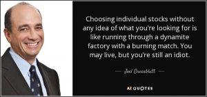 Joel Greenblatt quote