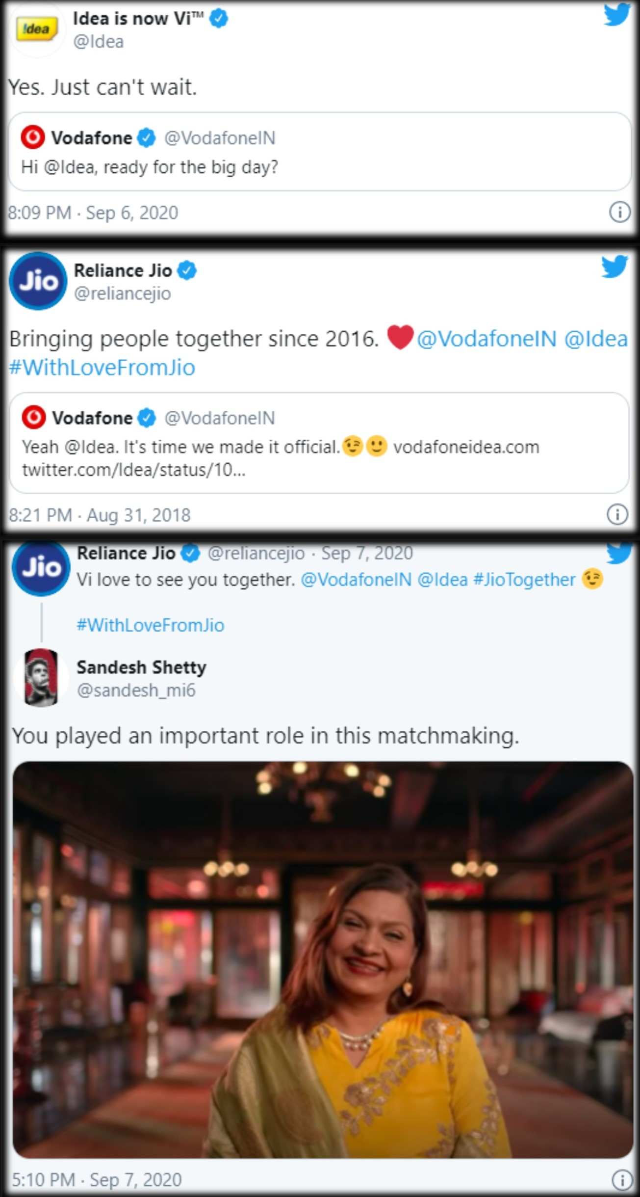 reactions of Vodafone-Idea Rebranding