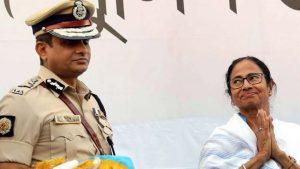 Kolkata Police Commissioner Rajeev Kumar and Bengal CM Mamata Banerjee