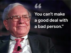 warren buffett quote company management