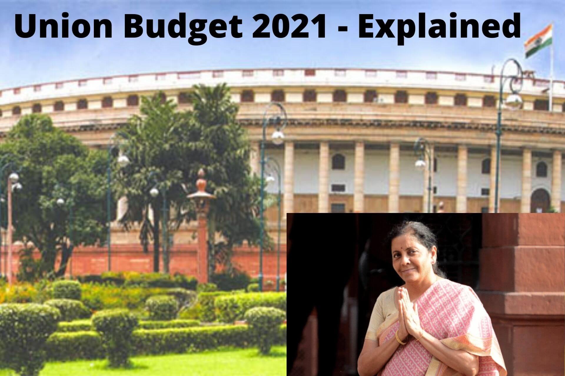 Union Budget 2021 – Detailed Explanation