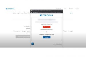 Zerodha account opening process - Step 12
