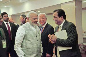Rana Kapoor with Prime Minister Narendra Modi