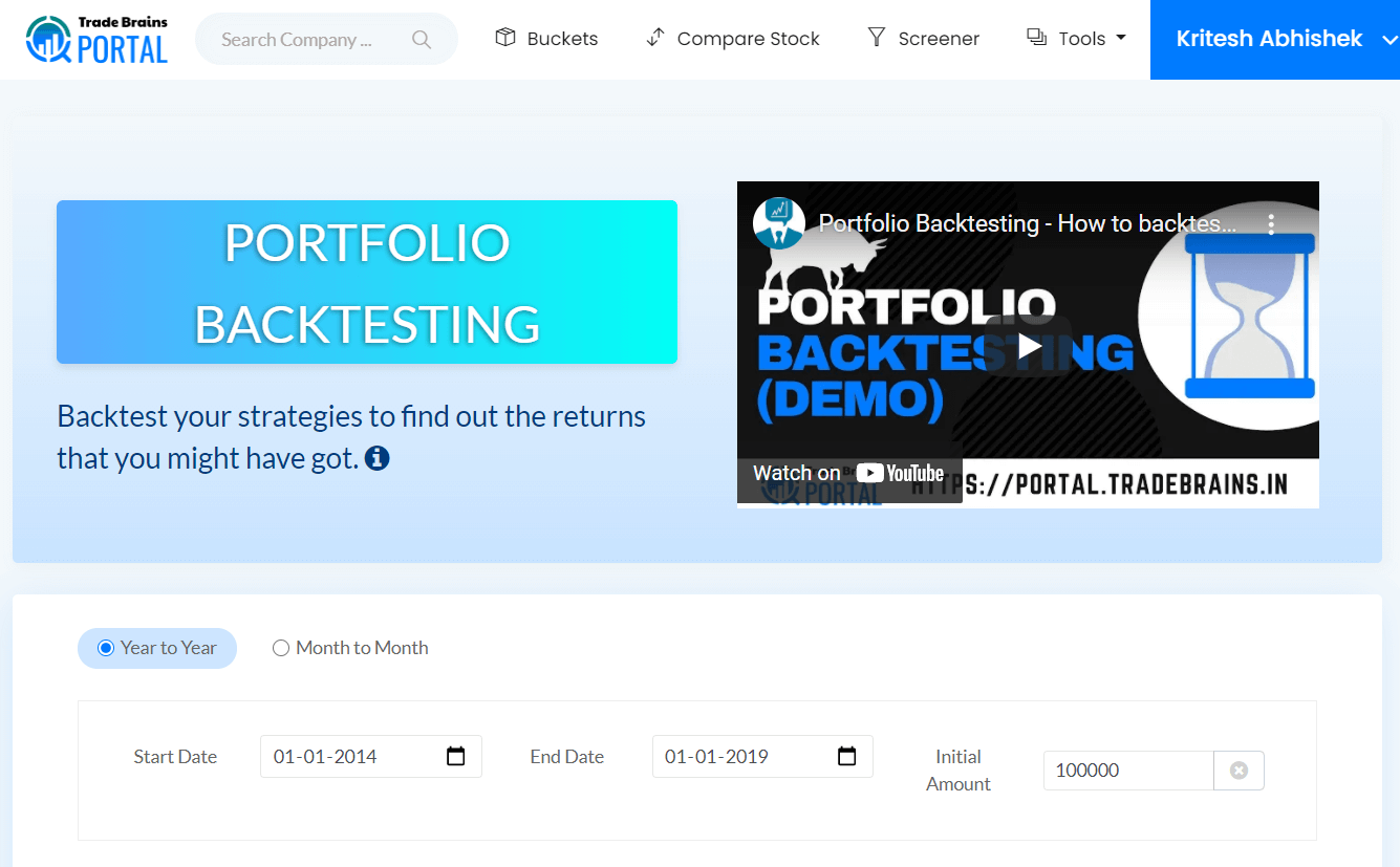 portfolio backtesting 1