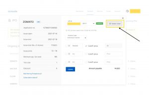 step 4 - How to apply for an IPO with ZerodhaAccount