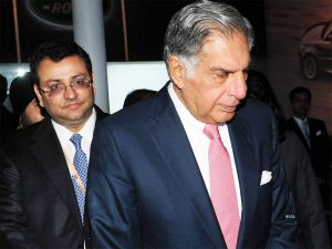 Ratan Tata and Cyrus Mistry together during an event
